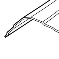 "ASC Building Products 26 Gauge x 10'6"" Universal Hip & Ridge"