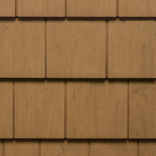 "CertainTeed Vinyl Building Products Cedar Impressions® Single 7"" Perfection Polymer Shingle Siding - Cedar Grain Finish Rustic Blend"