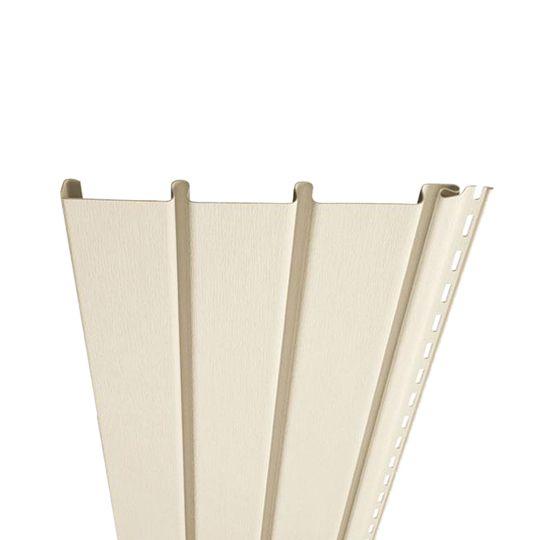 "Exterior Portfolio Premium Pointe® Triple 3-1/3"" Solid Soffit Country Beige"