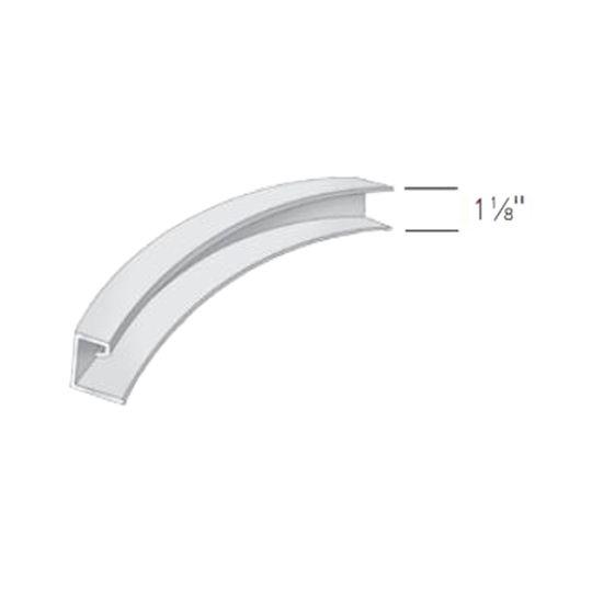 "Exterior Portfolio 1-1/8"" Flexible J-Channel Aspen White"