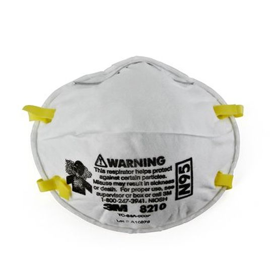 3M 8210 Particulate Respirator with Dual Strap - Box of 20 White