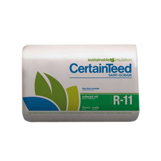 "Certainteed - Insulation 3-1/2"" x 15"" x 40' R-11 Unfaced Roll - 50 Sq. Ft."