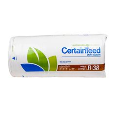 """Certainteed - Insulation 12"""" x 24"""" x 48"""" Sustainable R-38 Unfaced Batts..."""