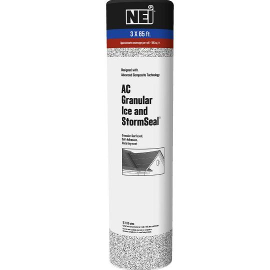 NEI AC Granular Ice & StormSeal® Granular Surfaced Self Adhesive Roofing Underlayment - 195 SQ. Ft. Roll