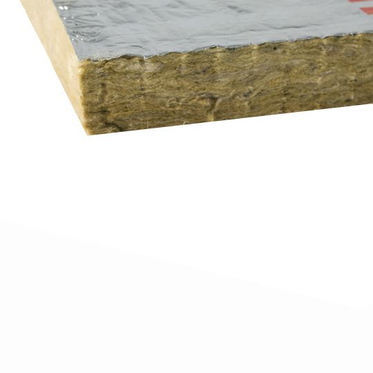 "Owens Corning 4"" x 24"" x 48"" Thermafiber® FireSpan® 90 Foil-Faced Mineral Wool Insulation - 32 Sq. Ft. per Bag"