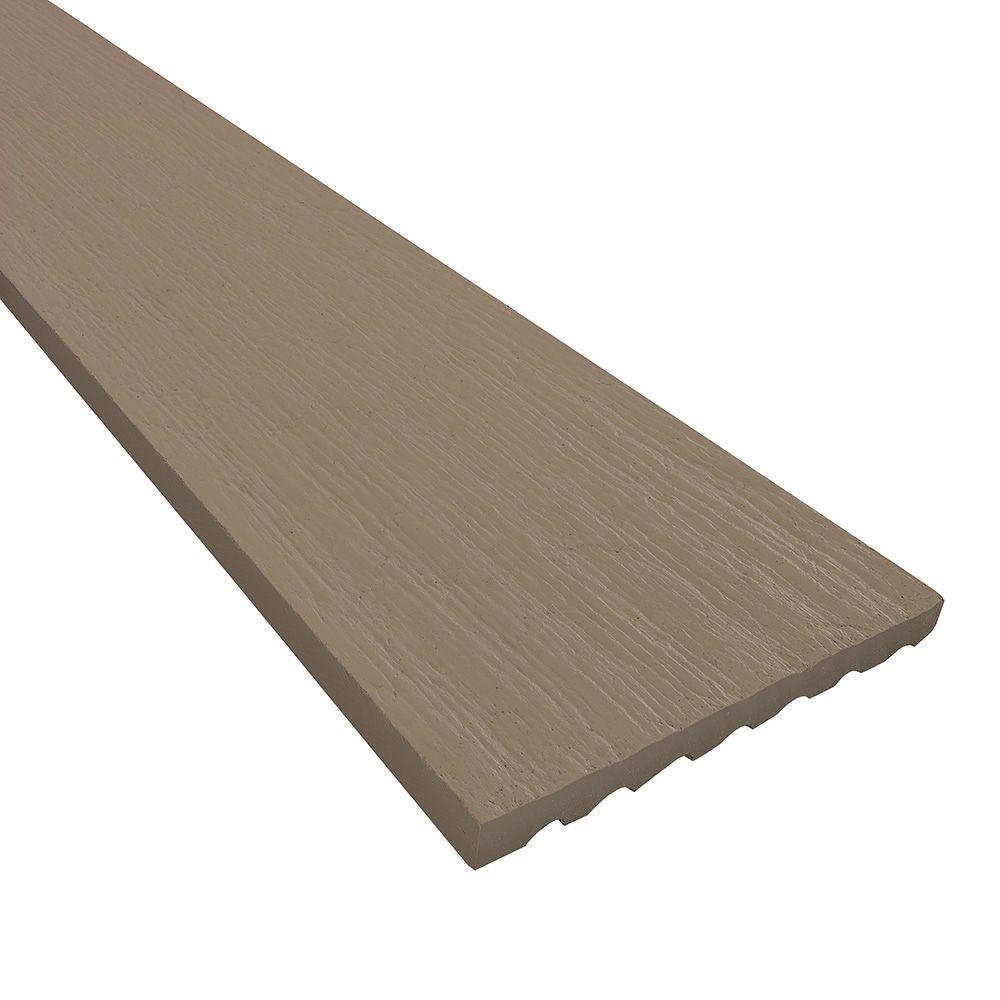 "James Hardie 1"" 3-1/2"" x 12' HardieTrim® 5/4 NT3® Roughsawn Board for HardieZone® 5 Arctic White"
