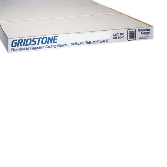 "National Gypsum 1/2"" x 2' x 2' Gold Bond® Gridstone® Gypsum Ceiling Panel - Bundle of 4"