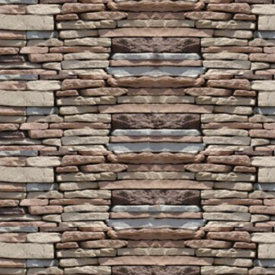 Quarry Ridge Stone Rustic Ledgestone Flat - 10 Sq. Ft. Box Onyx