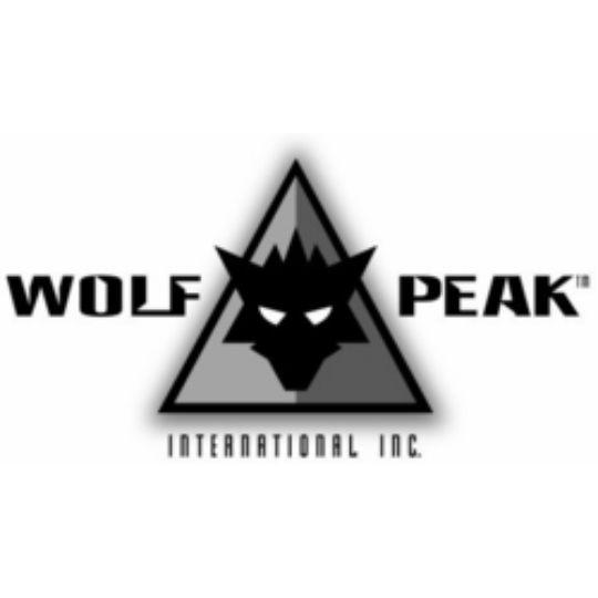 Wolf Peak Industries Reclus Torque Series Non-Polarized Safety Glasses Matte Black Nylon Frame with Red Edge Logo/Smoke Lens