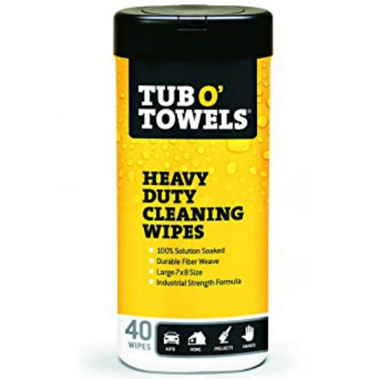 Federal Process Corporation Tub O' Towels Heavy Duty Cleaning Wipes - 40 Count Dispenser