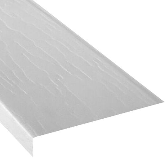 """Napco 6"""" Aluminum Woodgrain Embossed Fascia Stone Clay"""