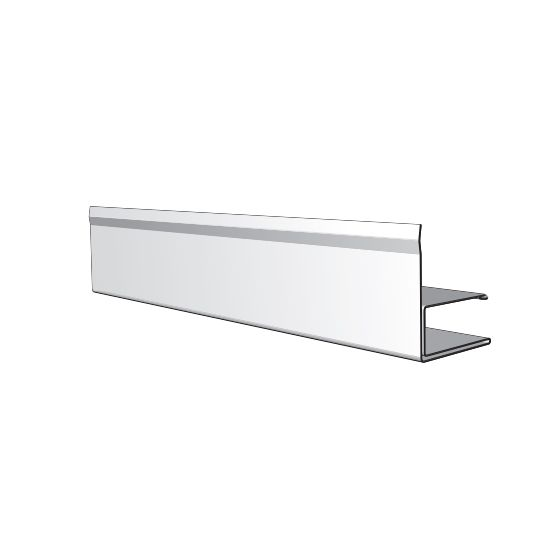 """Napco 3/8"""" x 12' Commercial F-Channel with 1-1/4"""" Face Liberty White"""