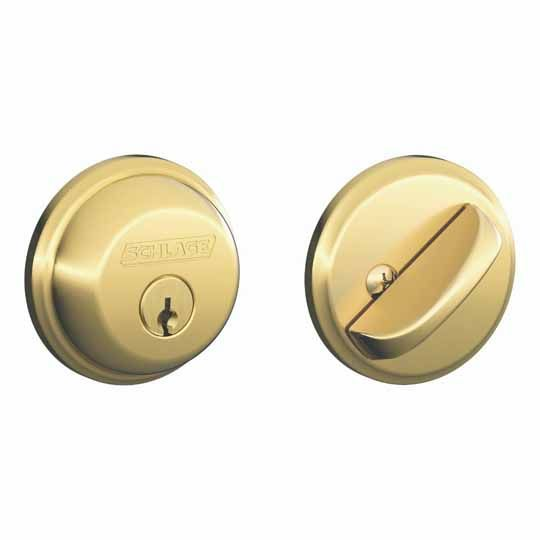 Schlage B60N Single Cylinder Deadbolt Oil Rubbed Bronze