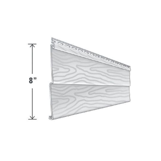 "Exterior Portfolio American Dream™ Double 4"" Siding Panels Pearl"