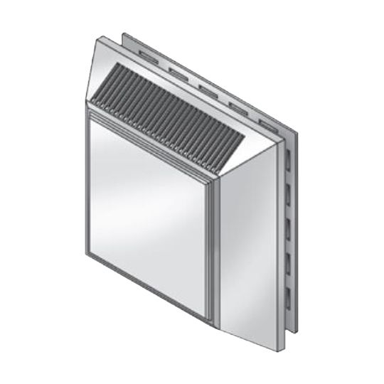 """Royal Building Products 7-1/2"""" Intake/Exhaust Vent White"""