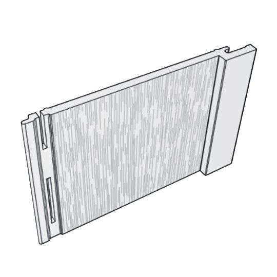Royal Building Products Celect® Board & Batten Siding Frost