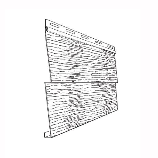 "Ply Gem Double 4"" Steel Siding - Woodgrain White"