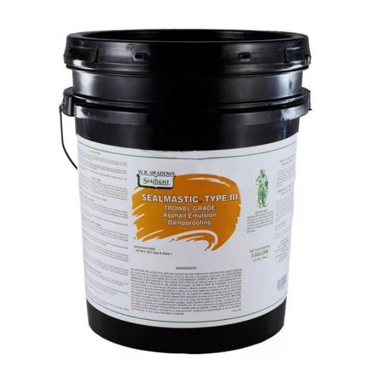 WR Meadows SealMastic™ Emulsion Type III Trowel-Grade Dampproofing - 5 Gallon Pail