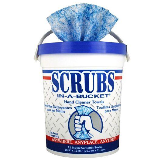 SCRUBS Hand Cleaner Towels - Bucket of 72