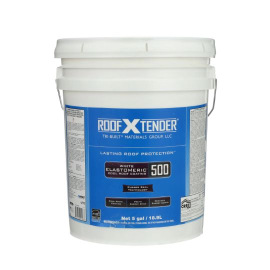 TRI-BUILT ROOF X TENDER® 500 Elastomeric Cool Roof Coating - 5 Gallon Pail White