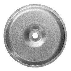"TRI-BUILT 3"" Galvalume Insulation Seam Steel Plates - Box of 100"