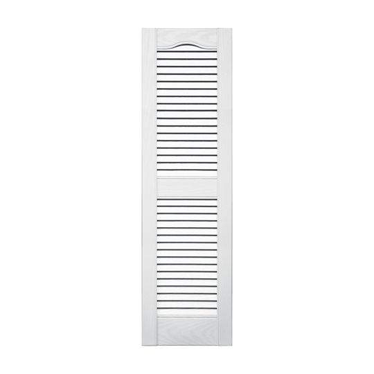 """TRI-BUILT 14-1/2"""" x 43"""" Standard Cathedral Top Open Louver Shutters (Pair) Midnight Green"""