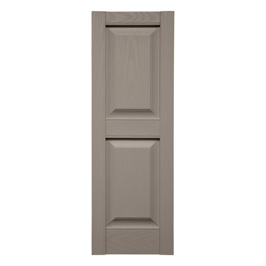 "TRI-BUILT 14-3/4"" x 43"" Standard Raised Panel Shutters (Pair) Tuxedo Grey"