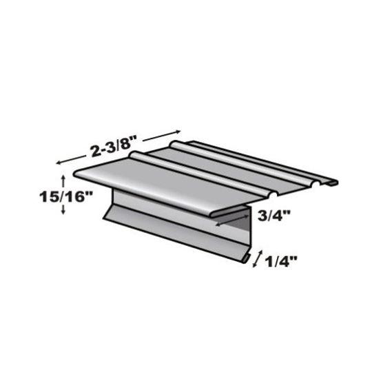 """TRI-BUILT .0125"""" 10' F4-1/2 Economy Painted Aluminum Drip Edge White"""