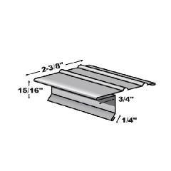 "TRI-BUILT .016"" x 10' F4-1/2 Standard Painted Aluminum Drip Edge"