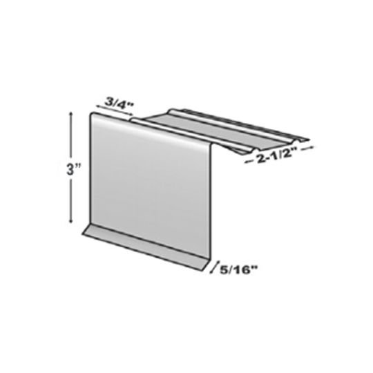 "TRI-BUILT .016"" 10' H6F Standard Painted Aluminum Slag Stop White"