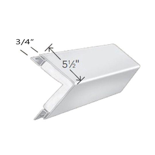 "Exterior Portfolio 5-1/2"" x 20' Corner Post Insulating Foam with 3/4"" Pocket Aspen White"