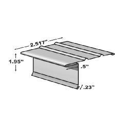 "TRI-BUILT .0175"" x 10' F5-1/2 S Hemmed Painted Aluminum Drip Edge"