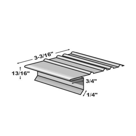 "TRI-BUILT .016"" 10' F5 Standard Painted Aluminum Drip Edge White"