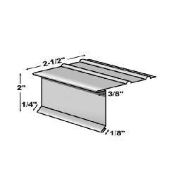 "TRI-BUILT .016"" x 10' Standard ODE Painted Aluminum Overhanging Drip Edge"