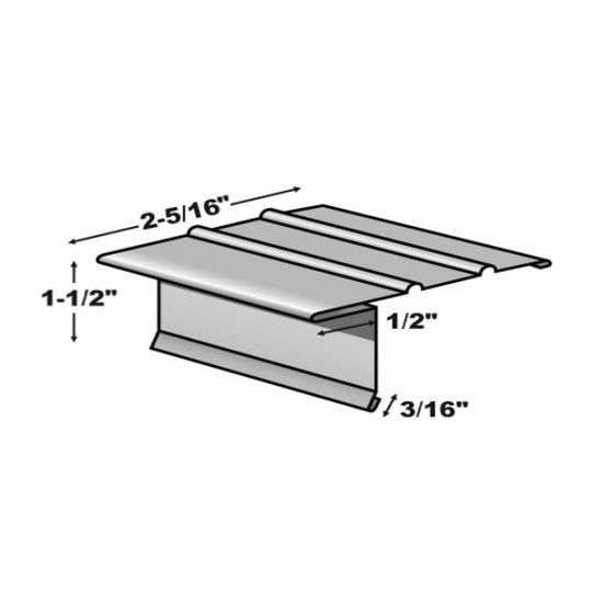 TRI-BUILT 10' 16 Oz. F5M (Medium) Copper Drip Edge