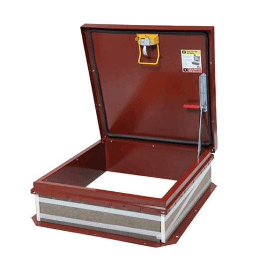 "TRI-BUILT 36"" x 36"" Galvanized Roof Hatch Red"