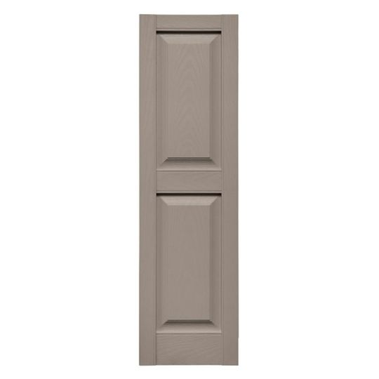 "TRI-BUILT 14-3/4"" x 67"" Standard Cottage Style Raised Panel Shutters (Pair) Midnight Blue"