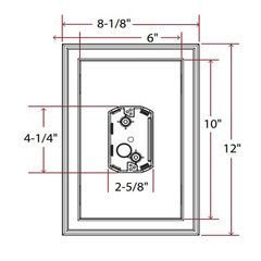 TRI-BUILT Centered Jumbo Electrical Mounting Block