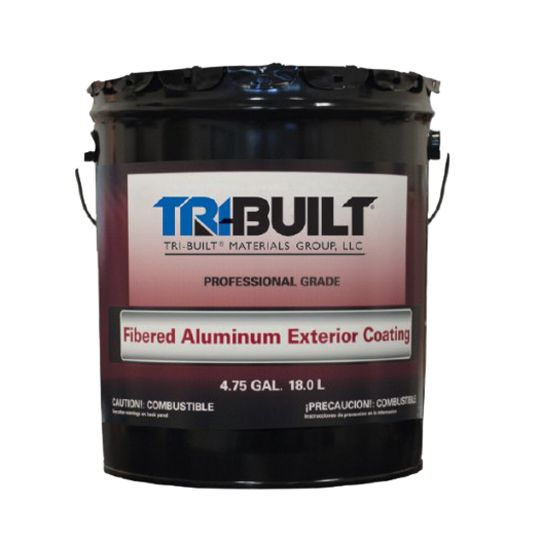 TRI-BUILT Fibered Aluminum Exterior Coating - 5 Gallon Pail Black with Silver Pigment