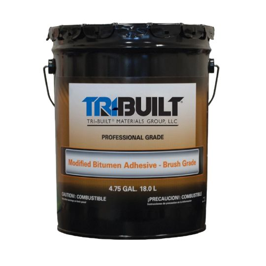 TRI-BUILT Modified Bitumen Adhesive Brush Grade - 5 Gallon Pail Black