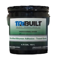 TRI-BUILT A/F Modified Bitumen Adhesive Trowel Winter Grade - 5 Gallon Pail
