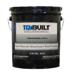 TRI-BUILT Non-Fibered Aluminum Roof Coating - 5 Gallon Pail