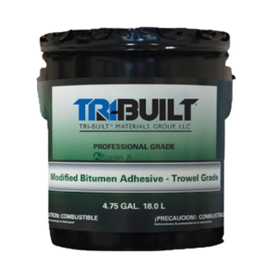 TRI-BUILT A/F Modified Bitumen Adhesive - Trowel Grade 5 Gallon Pail