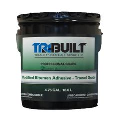 TRI-BUILT A/F Modified Bitumen Adhesive Trowel Grade - 5 Gallon Pail