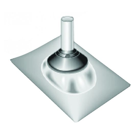 """TRI-BUILT 3"""" to 4"""" Aluminum Adjustable Roof Pipe Flashing Brown"""