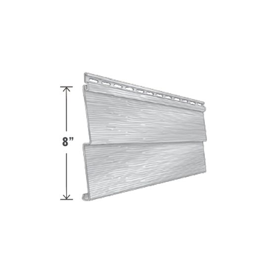 "Exterior Portfolio Elm Grove™ Double 4"" Raised-Grain Siding Panels Pearl"