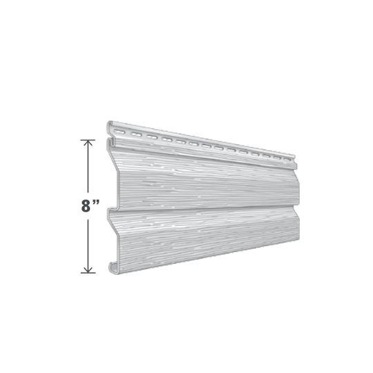 "Exterior Portfolio Elm Grove™ Double 4"" Dutchlap Siding Panels Aspen White"