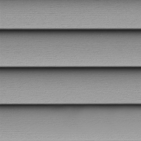 """Exterior Portfolio Premium Pointe® Double 4"""" Siding Panels Greystone"""