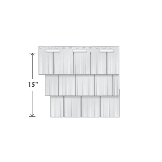 Exterior Portfolio T45 Cedar Perfection Shingle Greystone
