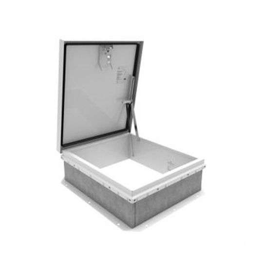 "TRI-BUILT 36"" x 30"" Galvanized Roof Hatch - HC Zone White"